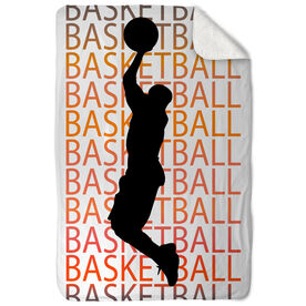 Basketball Sherpa Fleece Blanket Basketball Fade