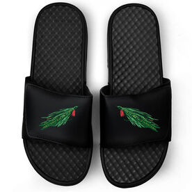 Fly Fishing Black Slide Sandals - Deceiver