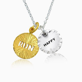 Livia Collection Sterling Silver and 14K Gold Vermeil Runners Happiness Necklace