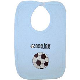 Soccer Baby Bib with Embellishment