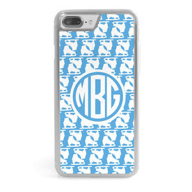 Figure Skating iPhone® Case - Monogram Figure Skate Pattern