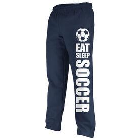 Soccer Fleece Sweatpants Eat Sleep Soccer