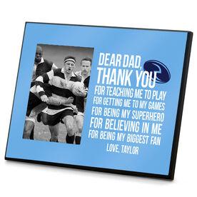 Rugby Wood Frame Dear Dad