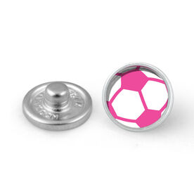 Pink Soccer Ball SportSNAPS Charm