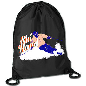 Skiing Sport Pack Cinch Sack Ski Hard