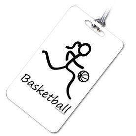 Basketball Bag/Luggage Tag Basketball Girl (Stick Figure)