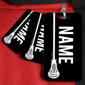 Lacrosse Bag/Luggage Tag Personalized Vertical Lacrosse Stick