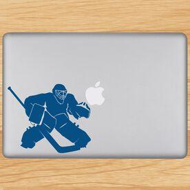 Hockey Goalie Regular Removable ChalkTalkGraphix Laptop Decal