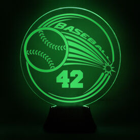 Baseball Acrylic LED Lamp Home Run With Number