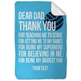 Volleyball Sherpa Fleece Blanket Dear Dad