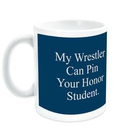 Wrestling Ceramic Mug My Wrestler Can Pin Your Honor Student