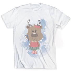 Vintage Field Hockey T-Shirt - Reindeer Field Hockey Player