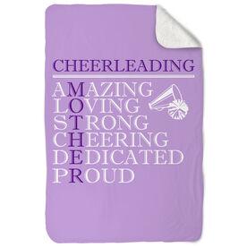 Cheerleading Sherpa Fleece Blanket - Mother Words