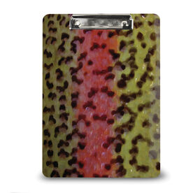 Fly Fishing Custom Clipboard Rainbow Trout Scales