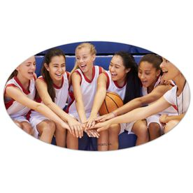 Basketball Oval Car Magnet Your Photo