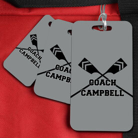 Crew Bag/Luggage Tag Personalized Coach with Crossed Oars