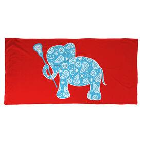 Girls Lacrosse Beach Towel Lax Elephant
