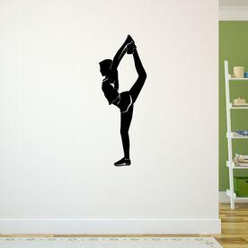 Cheerleader Backward Foot Grab Silhouette Removable ChalkTalkGraphix Wall Decal