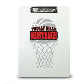 Basketball Custom Clipboard Basketball Your Logo