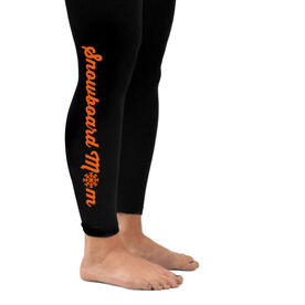 Snowboarding Leggings Snowboard Mom with Snowflake
