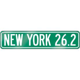"Running Aluminum Room Sign New York 26.2 (4""x18"")"