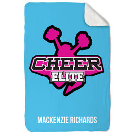 Cheerleading Sherpa Fleece Blanket Custom Team Logo