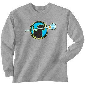 Lacrosse Long Sleeve T-Shirt - Lacrosse Dog