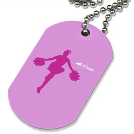 iCheer Printed Dog Tag Necklace