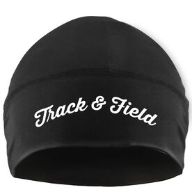 Run Technology Beanie Performance Hat - Track & Field Script