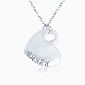 Sport Heart - CHEER Silver  Necklace