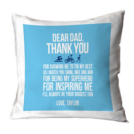 Triathlon Pillow Dear Dad