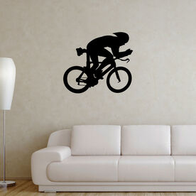 Tri Cyclist Removable ChalkTalkGraphix Wall Decal