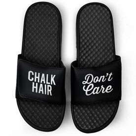 Gymnastics Black Slide Sandals - Chalk Hair Don't Care