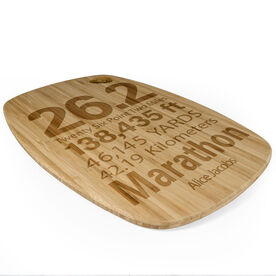 Rectangle Laser Engraved Bamboo Cutting Board 26.2 Math Miles