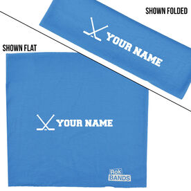RokBAND Multi-Functional Headband - Personalized Name Hockey Crossed Sticks
