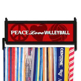 AthletesWALL Peace Love Volleyball Words Medal Display