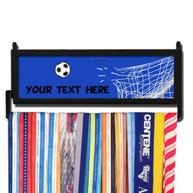 AthletesWALL Personalized Soccer Custom Text Medal Display