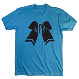 Cheerleading Tshirt Short Sleeve Monogrammed Cheer Bow