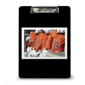 Baseball Custom Clipboard Baseball Your Photo Solid Background