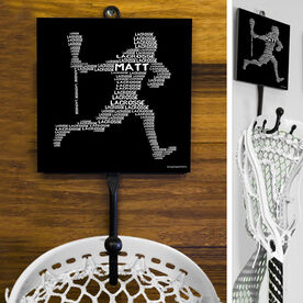 Guys Lacrosse Hook - Personalized Words Player