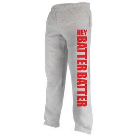 Softball Fleece Sweatpants Hey Batter Batter