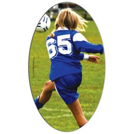 Soccer Oval Car Magnet Your Photo