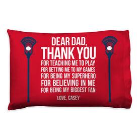 Guys Lacrosse Pillowcase - Dear Dad