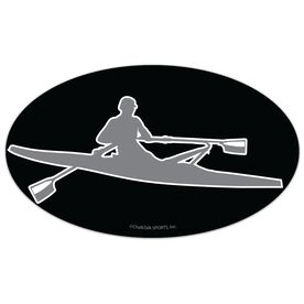 Crew Oval Car Magnet Rower