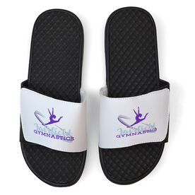 Gymnastics White Slide Sandals - Your Logo