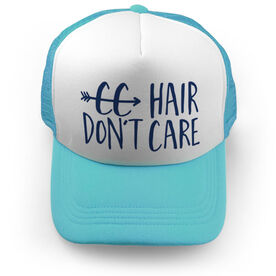 Cross Country Trucker Hat - Cross Country Hair Don't Care