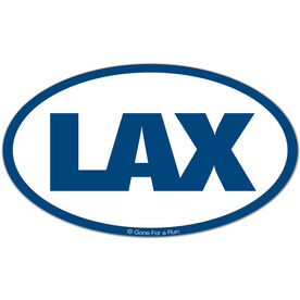 LAX Oval Car Magnet (Navy)
