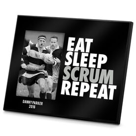Rugby Photo Frame Eat Sleep Scrum Repeat