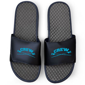 Crew Navy Slide Sandals - Crossed Oars