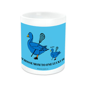 Lacrosse Ceramic Mug Mom Lucky Ducks